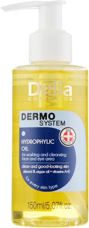 Hydrofilný olej na umývanie tváre a očí - Dermo System Delia