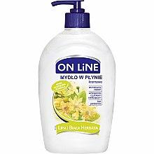 """Voňavky, Parfémy, kozmetika Tekuté mydlo s dávkovačom """"Lipa a biely čaj"""" - On Line Liquid Soap"""