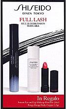 Voňavky, Parfémy, kozmetika Sada - Shiseido Full Lash Multi-Dimension Mascara (mascara/8ml + lipstick/2,5g + remover/30ml)