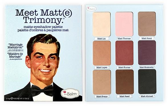 Paleta tieňov na viečka - TheBalm Meet Matt(e) Trimony Matte Eyeshadow Palette