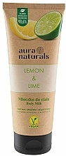 "Voňavky, Parfémy, kozmetika Telové mlieko ""Citrón a limeta"" - Aura Naturals Lemon & Lime Body Milk"