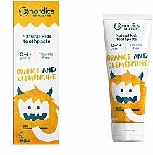 "Voňavky, Parfémy, kozmetika Detská zubná pasta ""Mandarínka Clementine"" - Nordics Kids Orange Clementine Toothpaste"