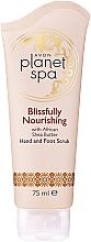 """Voňavky, Parfémy, kozmetika Peeling na ruky a nohy """"Neprekonateľná výživa"""" s bambuckým olejom - Avon Planet Spa Scrub"""