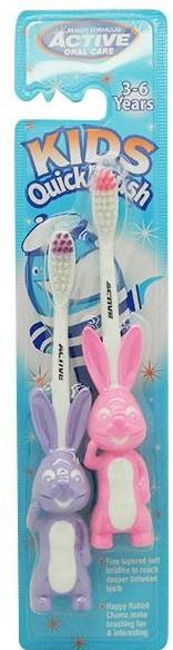 Zubná kefka pre deti, 3-6 rokov, fialová + ružová - Beauty Formulas Active Oral Care