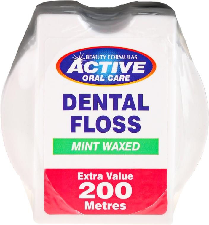 Zubná niť s príchuťou mäty - Beauty Formulas Active Oral Care Dental Floss Mint Waxed 200m