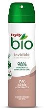 Voňavky, Parfémy, kozmetika Dezodorant v spreji - Byly Bio Natural 0% Invisible Desdorant Spray