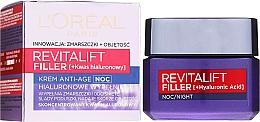 Voňavky, Parfémy, kozmetika Nočný krém-starostlivosť proti starnutiu - L'Oreal Paris Revitalift Filler Hyaluronic Acid Night Cream