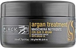 Voňavky, Parfémy, kozmetika Maska na vlasy s arganovým olejom, keratínom a kolagénom - Black Professional Line Argan Treatment Mask