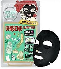 Voňavky, Parfémy, kozmetika Pleťová maska s vyživujúcim ženšenom - Dewytree Ginseng Nutritious Black Sheet Mask