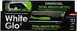 Voňavky, Parfémy, kozmetika Sada - White Glo Charcoal Total Mouth Detox (toothpaste/150g + toothbrush)
