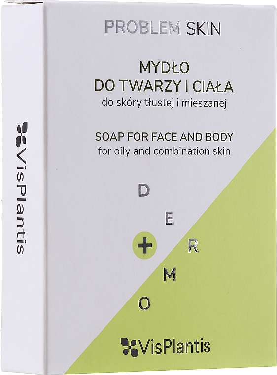 Mydlo na problematickú pleť - Vis Plantis Soaps Birch Tar Soap With Olive Oil For Face And Body Problem Skin