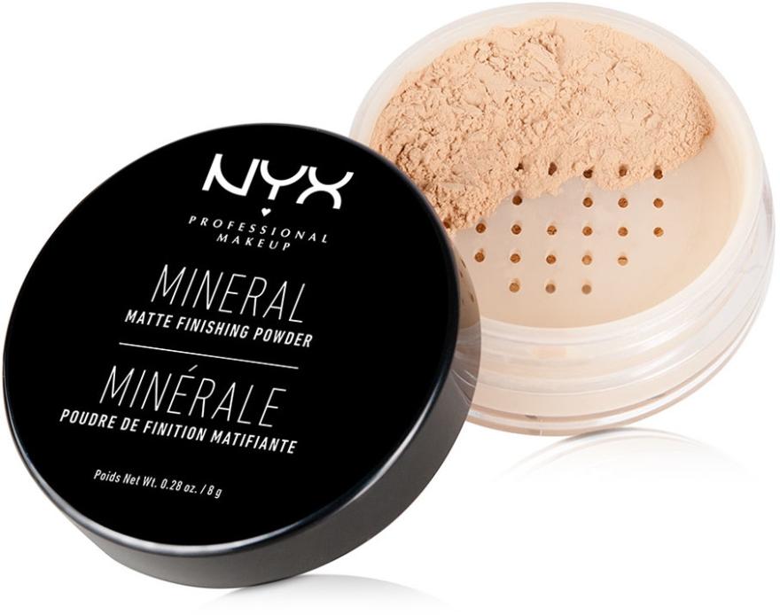 Minerálny dokončovací prášok - NYX Professional Makeup Mineral Matte Finishing Powder