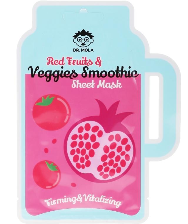 Textilná maska na tvár - Dr. Mola Red Fruits & Veggies Smoothie Sheet Mask — Obrázky N1