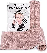 """Voňavky, Parfémy, kozmetika Cestovná sada uterákov na tvár, béžové """"MakeTravel"""" - Makeup Face Towel Set"""