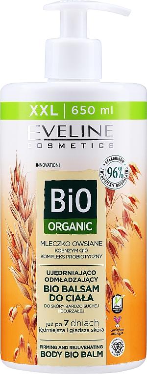 Balzam na telo - Eveline Cosmetics Bio Organic Firming And Rejuvenating Body Bio Balm Oat Milk