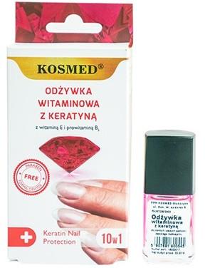Vitamínový lak na nechty s keratínom - Kosmed Colagen Nail Protection 10in1