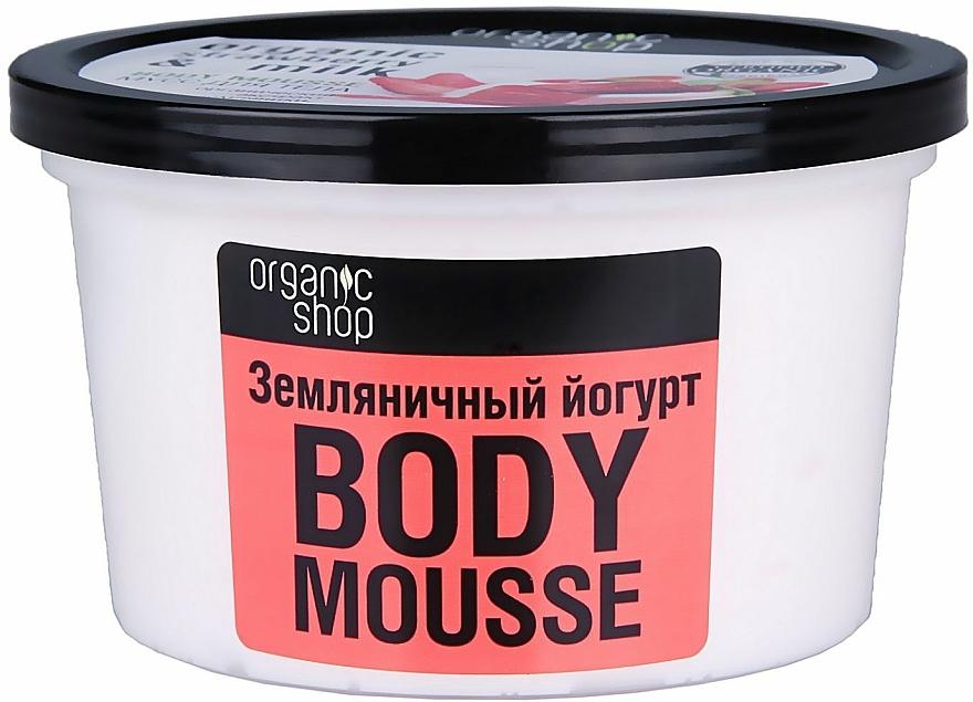 """Telová pena """"Jahodový jogurt"""" - Organic Shop Body Mousse Organic Strawberry & Milk — Obrázky N2"""