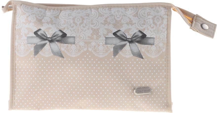 "Kozmetická taška ""Lace-Bow"", 96082, béžová - Top Choice — Obrázky N1"