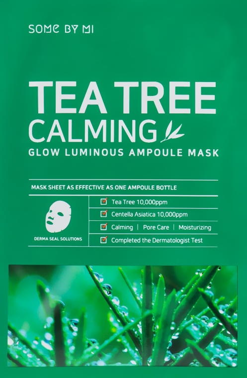 Upokojujúca maska s čajovníkom - Some By Mi Tea Tree Calming Glow Luminous Ampoule Mask