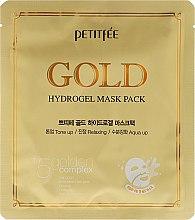 Voňavky, Parfémy, kozmetika Hydrogélová tvárová maska so zlatým komplexom +5 - Petitfee&Koelf Gold Hydrogel Mask Pack +5 Golden Complex