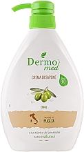 "Voňavky, Parfémy, kozmetika Krém-mydlo ""Oliva"" - Dermomed Oliva Cream Soap"