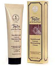 """Voňavky, Parfémy, kozmetika Hydratačný krém """"Santalové drevo"""" - Taylor of Old Bond Street Sandalwood Moisturising Cream"""
