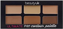 Voňavky, Parfémy, kozmetika Paleta na kontúrovanie tváre - Beauty UK Ultimate PRO Contour Palette
