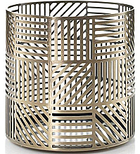 Voňavky, Parfémy, kozmetika Svietnik na sviečku - Yankee Candle Crosshatch Brass Jar Holder