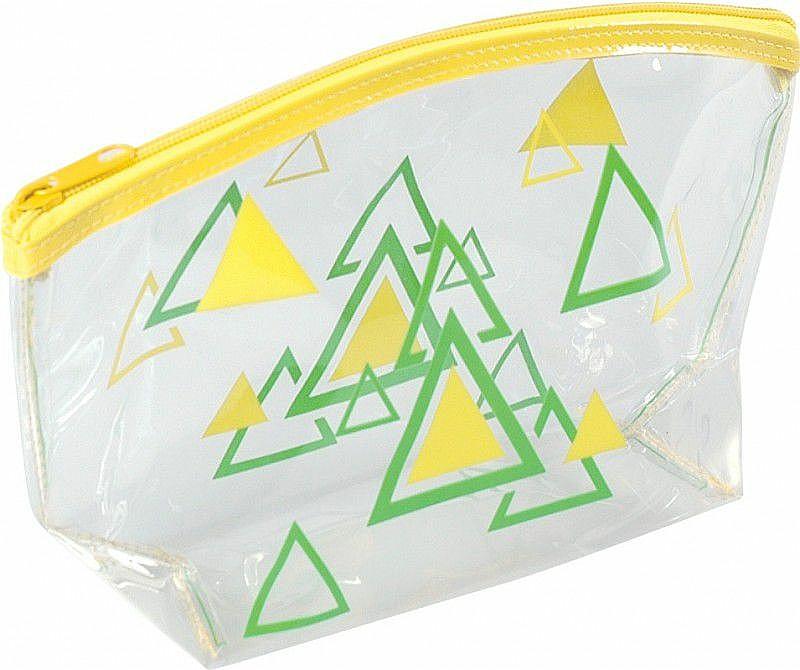 Dámska kozmetická taška, 93517, žltá - Top Choice Triangles