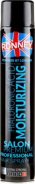 Lak na vlasy - Ronney Hyaluronic Moisturizing Hair Spray