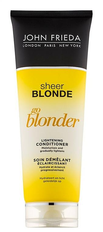 """Zosvetľujúci kondicionér """"Staň sa svetlejším"""" - John Frieda Sheer Blonde Soin Demelant Eclaircissante Go Blonder — Obrázky N1"""
