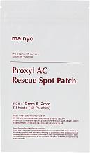 Voňavky, Parfémy, kozmetika Bodová náplasť - Manyo Factory Proxyl AC Rescue Spot Patch