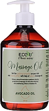 Voňavky, Parfémy, kozmetika Masážny olej - Eco U Avocado Massage Oil