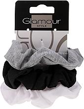 Voňavky, Parfémy, kozmetika Gumičky na vlasy, 420, čierna + šedá + biela - Glamour