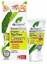 """Voňavky, Parfémy, kozmetika Upokojujúci telový krém """"Čajovník"""" - Dr. Organic Bioactive Skincare Tea Tree Cream"""