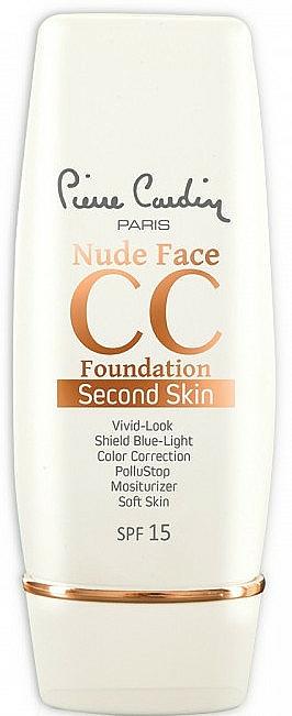 CC krém - Pierre Cardin Nude Face CC Foundation Second Skin SPF 15