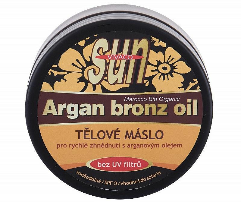 Opaľovacie bronzujúce maslo - Vivaco Sun Argan Bronze Oil Tanning Butter