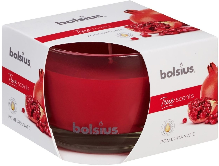 """Vonná sviečka v pohári """"Granátové jablko"""", 63/90 mm - Bolsius True Scents Candle — Obrázky N1"""