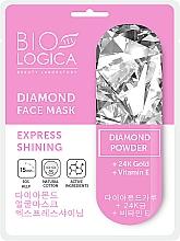 Voňavky, Parfémy, kozmetika Maska Expresná žiarivosť s diamantovým práškom - Biologica Diamond