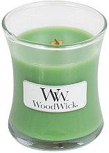Voňavky, Parfémy, kozmetika Vonná sviečka v pohári - WoodWick Hourglass Candle Palm Leaf