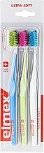 Zubné kefky, ultra mäkké, modrá + zelená + bielá - Elmex Swiss Made — Obrázky N1