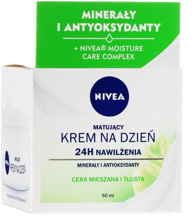 Hydratačný denný krém pre mastnú a kombinovanú pleť - Nivea 24H Moisture Care Complex — Obrázky N1