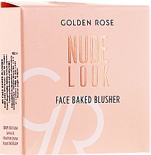 Voňavky, Parfémy, kozmetika Lícenka na tvár - Golden Rose Nude Look Face Baked Blusher