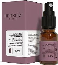 """Voňavky, Parfémy, kozmetika Olejový ústny sprej """"Čierne ríbezle"""" 2,5% - Herbliz CBD Oil Mouth Spray 2,5%"""