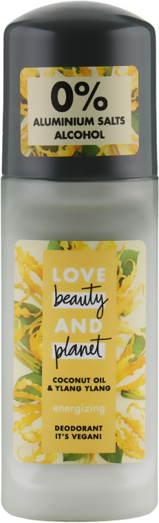 """Guľôčkový dezodorant """"Kvety ylang ylang a kokos"""" - Love Beauty&Planet Deodorant Roller Coconut Oil And Ylang Ylang"""