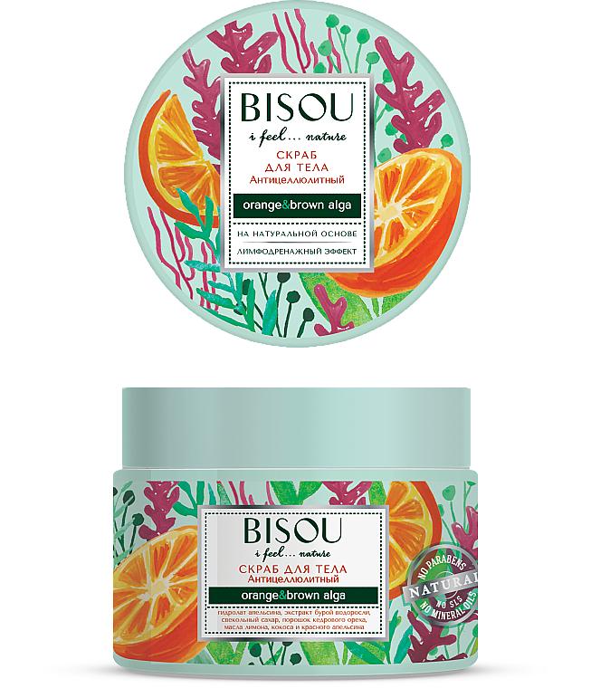 """Scrub na telo """"Anticelulitídny"""" - Bisou I feel... Nature Anti-Cellulite Body Scrub Orange & Brown Algae"""