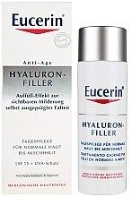 Voňavky, Parfémy, kozmetika Denný krém proti vráskam pre normálnu a kombinovanú pleť - Eucerin Hyaluron-Filler Day Cream For Combination To Oily Skin