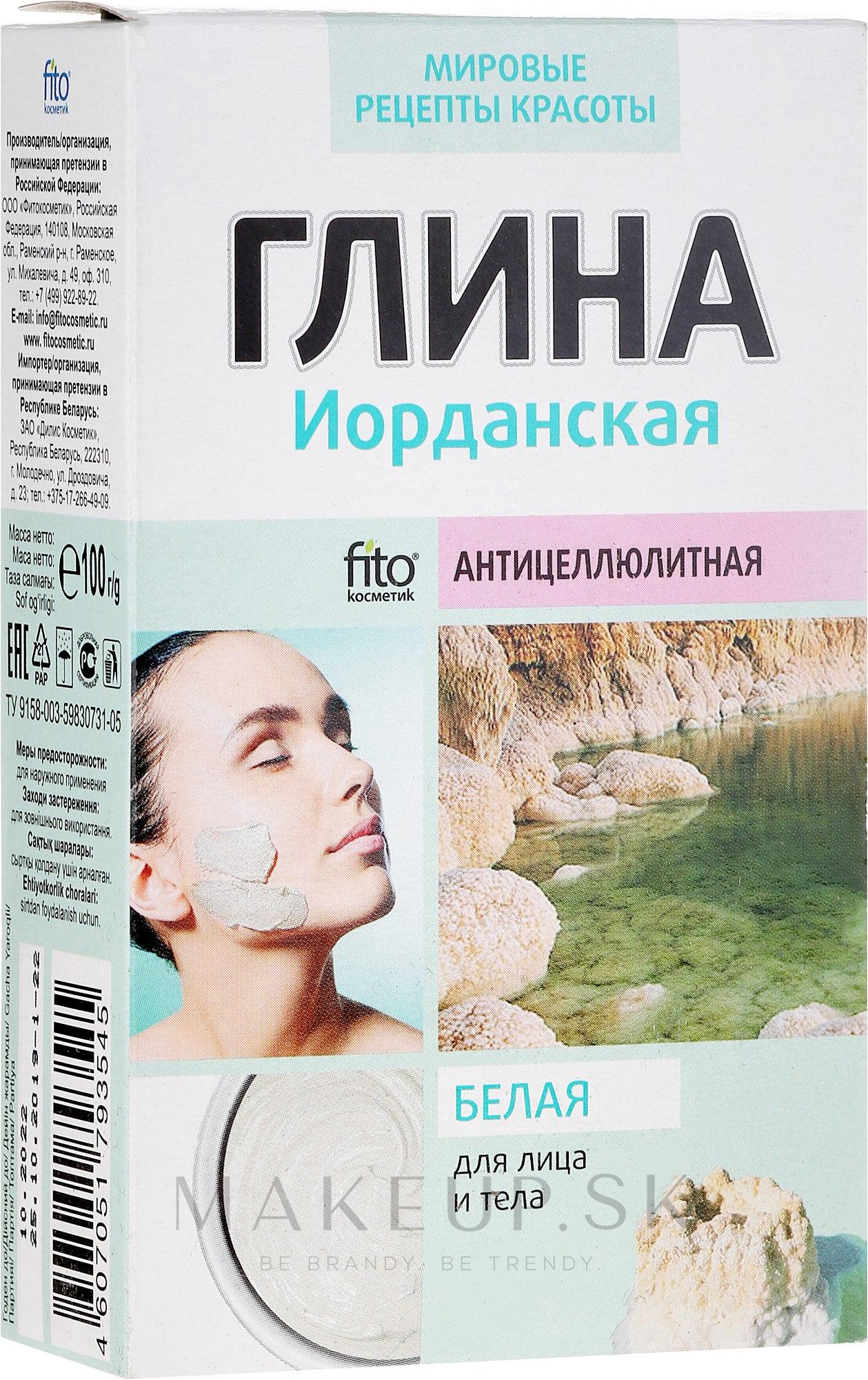 """Hlina na tvár a telo """"Jordan"""", biela - Fito Kozmetic — Obrázky 100 g"""