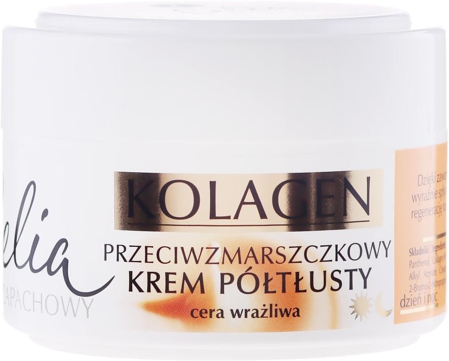 Krém proti vráskam pre citlivú pleť tváre - Celia Collagen Cream