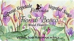 """Voňavky, Parfémy, kozmetika Prírodné mydlo """"Lesné kvety"""" - Florinda Sapone Vegetale Vegetal Soap Wood Flowers"""